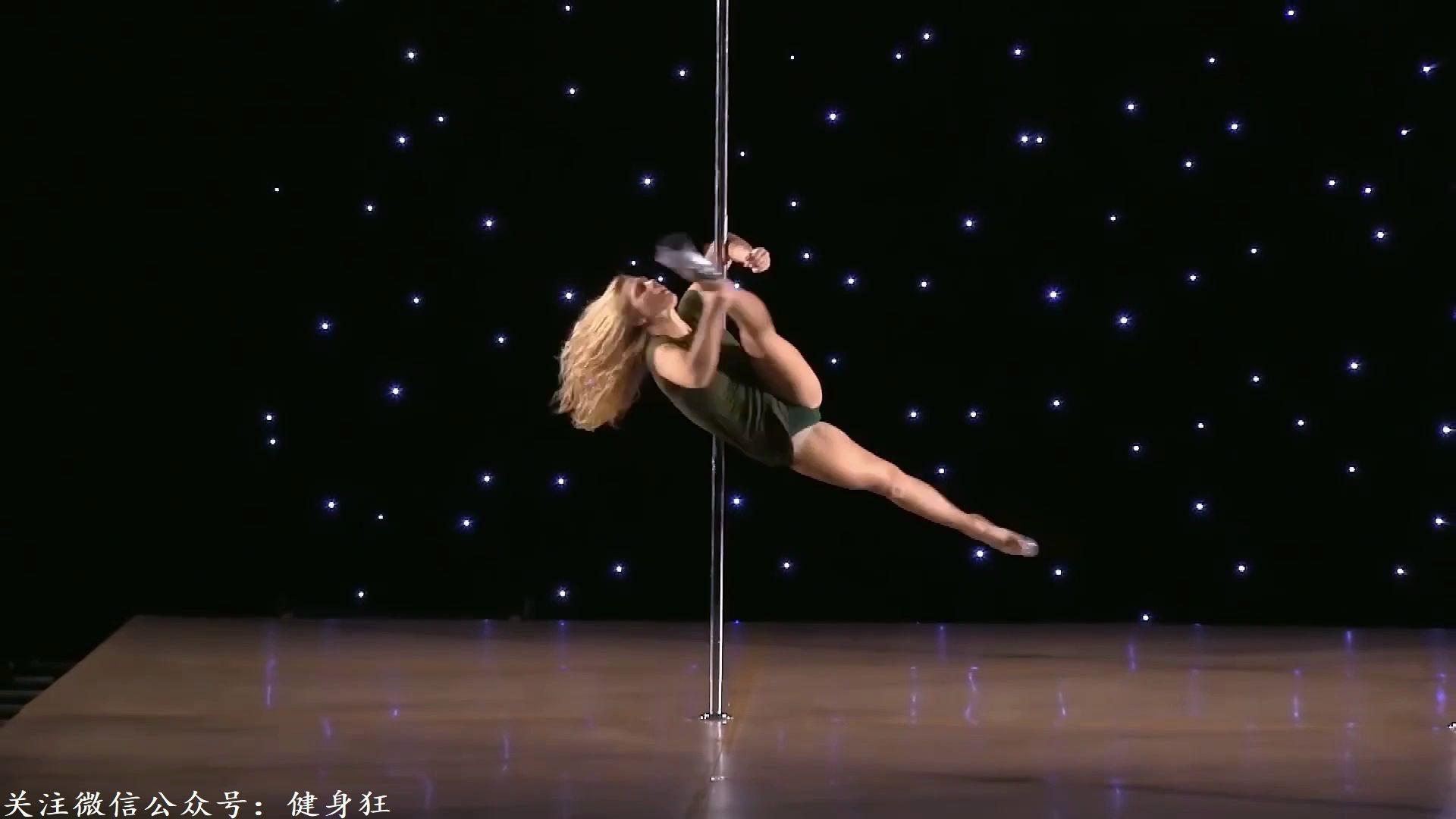 【健身福利】小姐姐在线教程:钢管舞慢镜动作