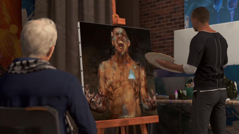 底特律马库斯_底特律:变人中马库斯在画室创作的12幅直击人心的画作