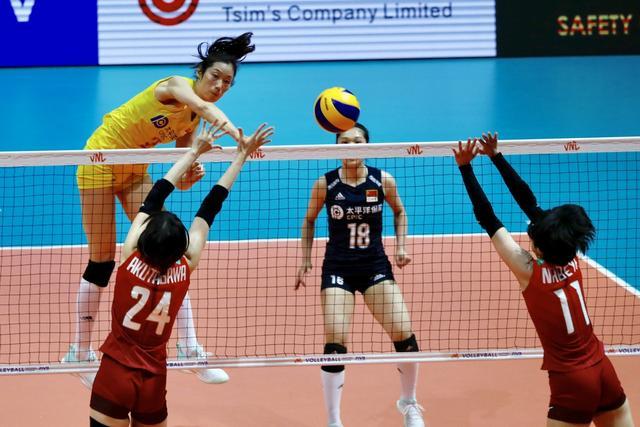 世界女排联赛香港站,朱婷打满三局,中国女排横扫日本