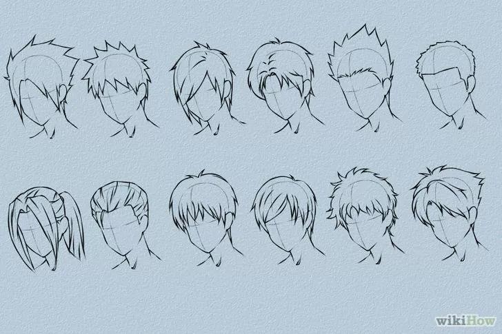【头发怎么画?】动漫人物发型的各种角度各种