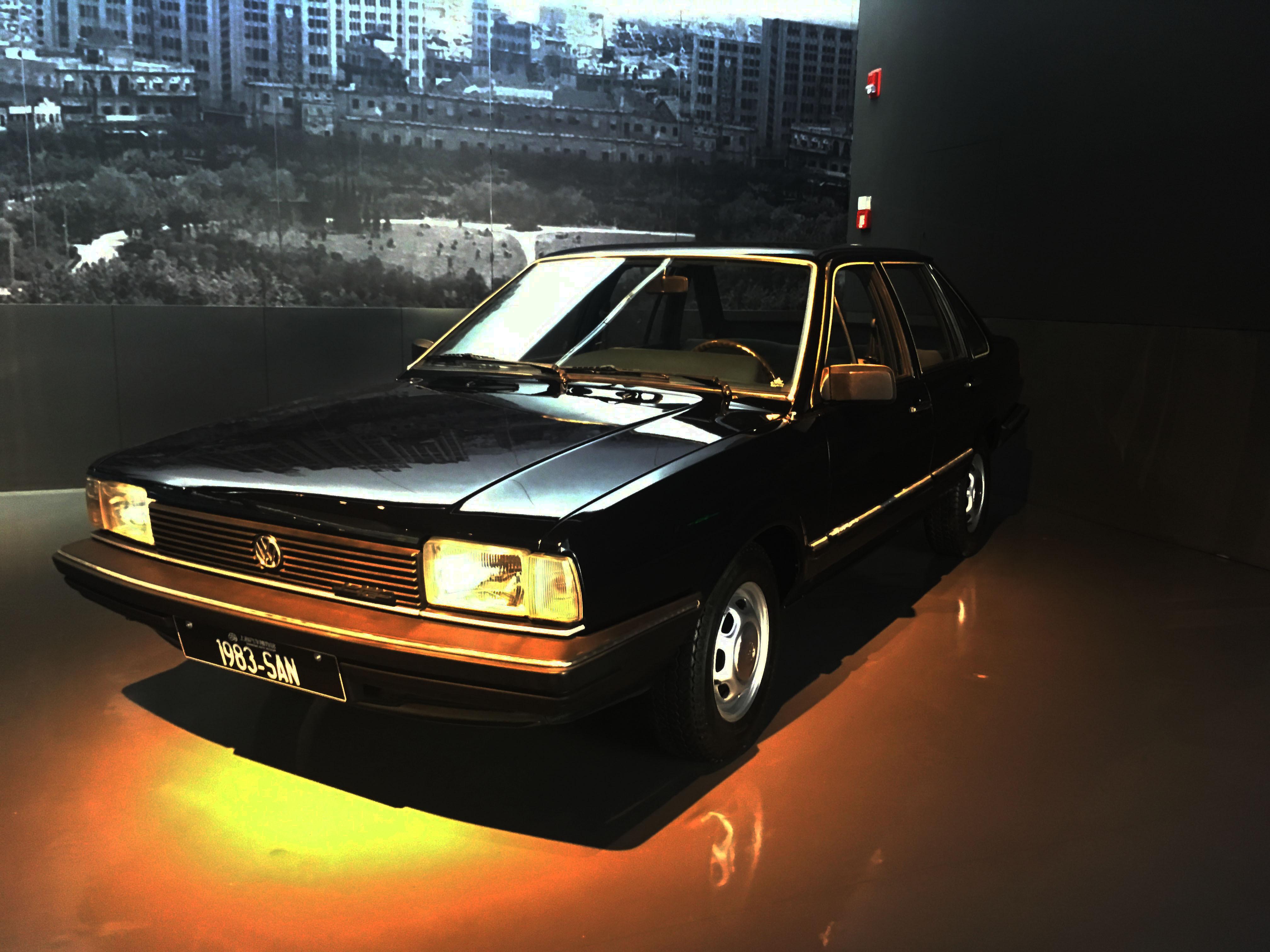 上海车_收藏于上海汽车博物馆的1983年上海大众桑塔纳