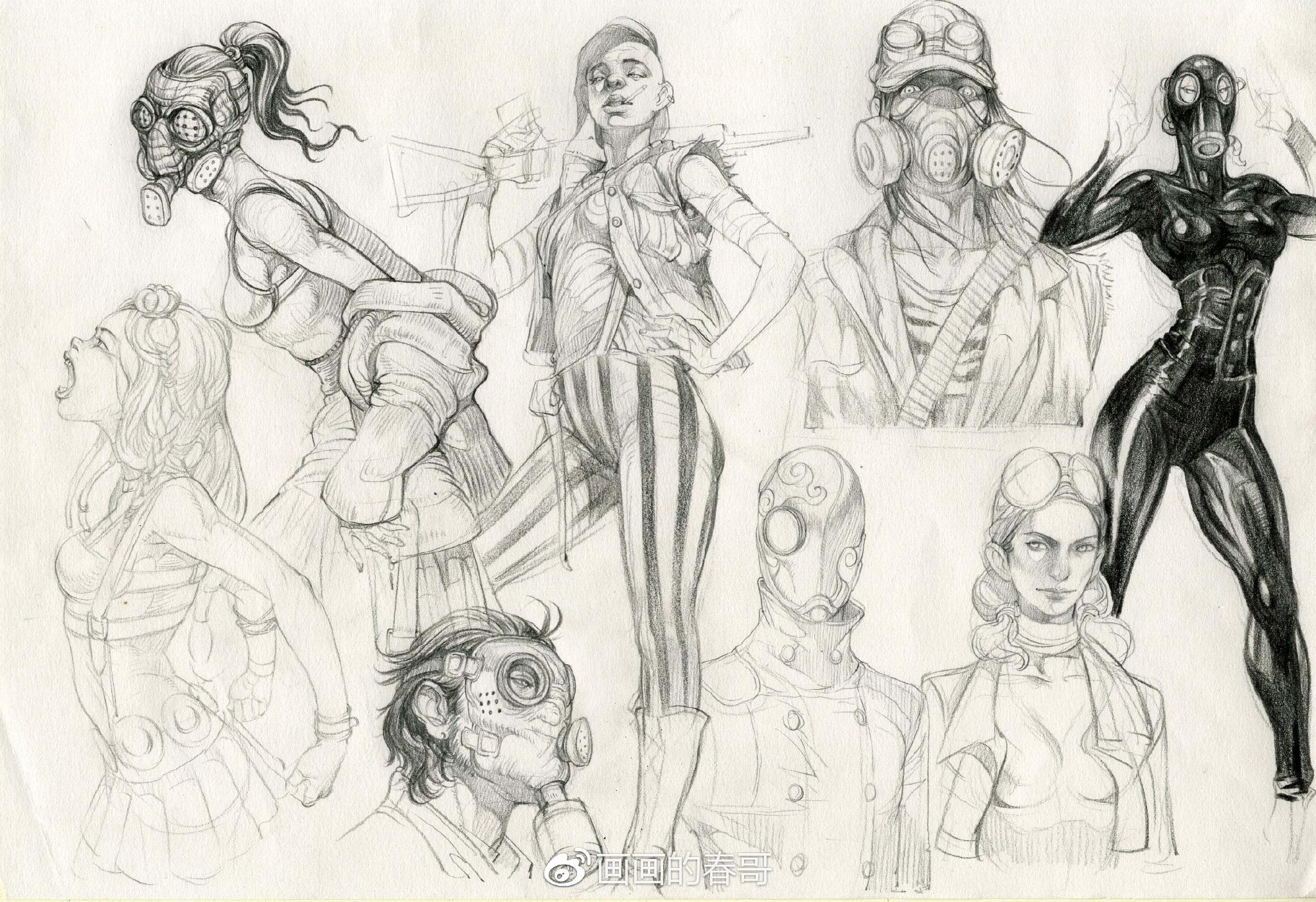 人体漫画版_给准备从事游戏动漫行业的你们——人体结构联系及角色创作