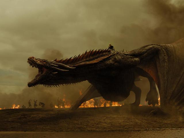 美国影视五大恶龙排行榜,权游冰龙仅倒数第二,第一名差点统治地球