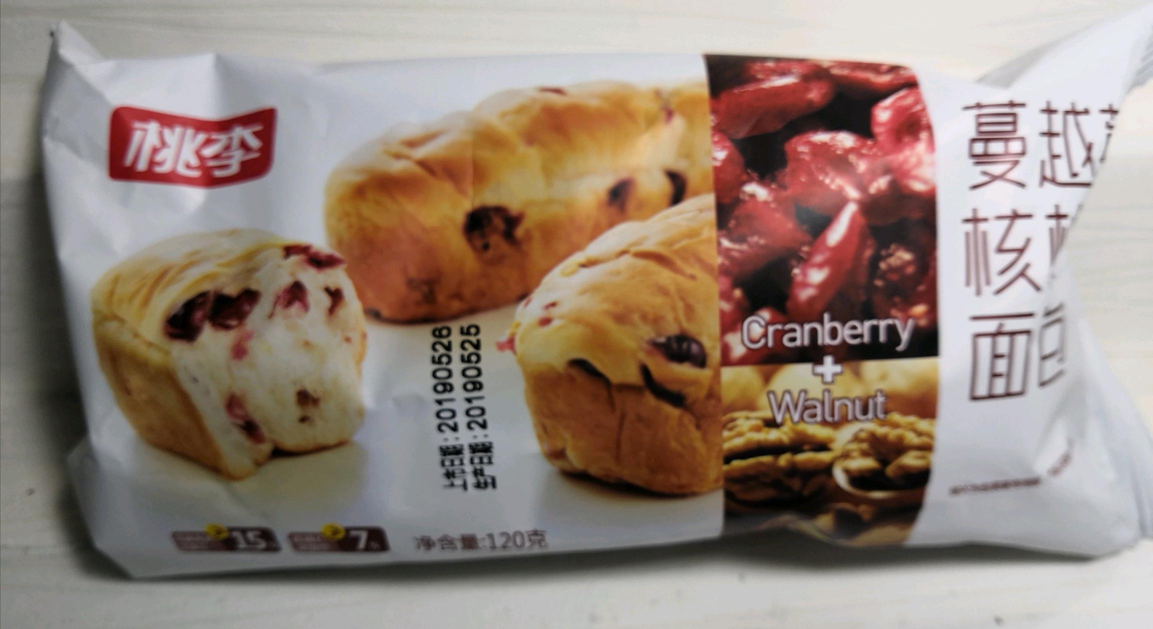 【面包测评】桃李蔓越莓核桃面包