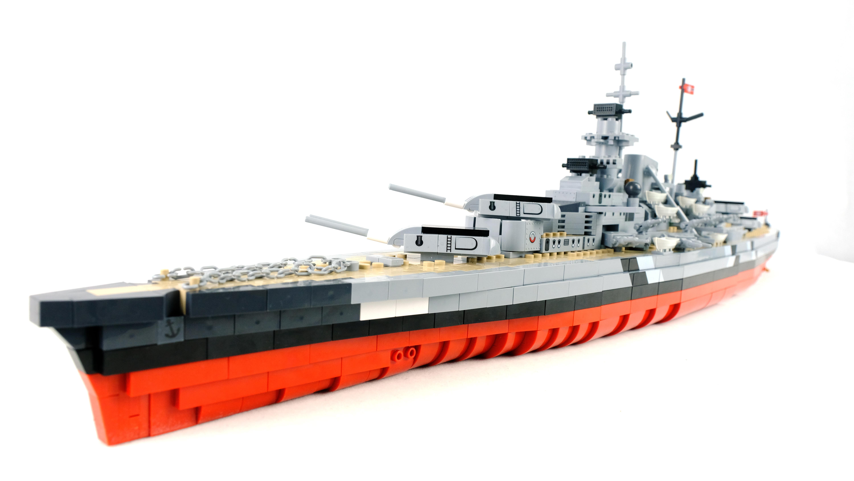 从游戏中开出的积木战舰:cobi积木战舰世界版俾斯麦号战列舰
