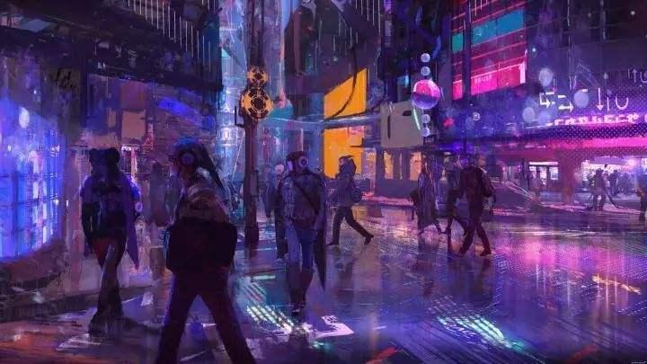 �r,_赛博朋克2077 ——昏暗的城市与破落的科技