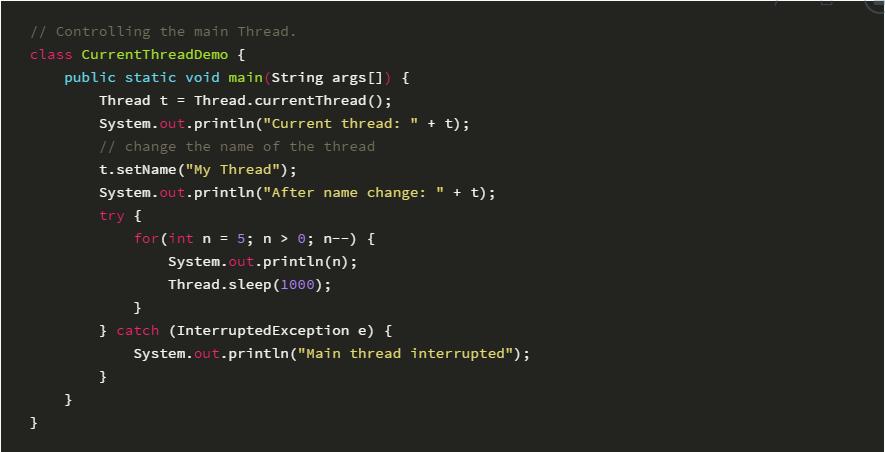Java主线程
