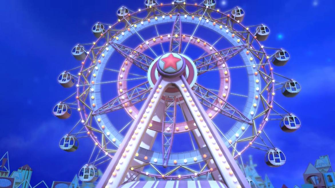 叶罗丽中的游乐园,碰碰车很好玩,摩天轮是王默的最爱!