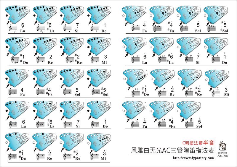 盹�c_【图源网络】风雅无光白ac3陶笛c调指法表