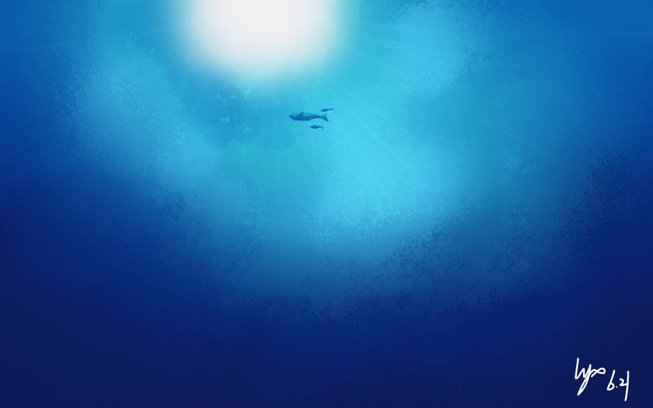 自画电脑壁纸深海 洗白兔 哔哩哔哩相簿