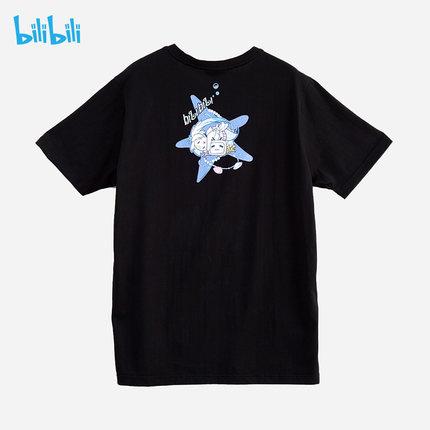 bilibili 哔哩哔哩B站周边 2233娘人鱼系列 棉短袖T恤休闲